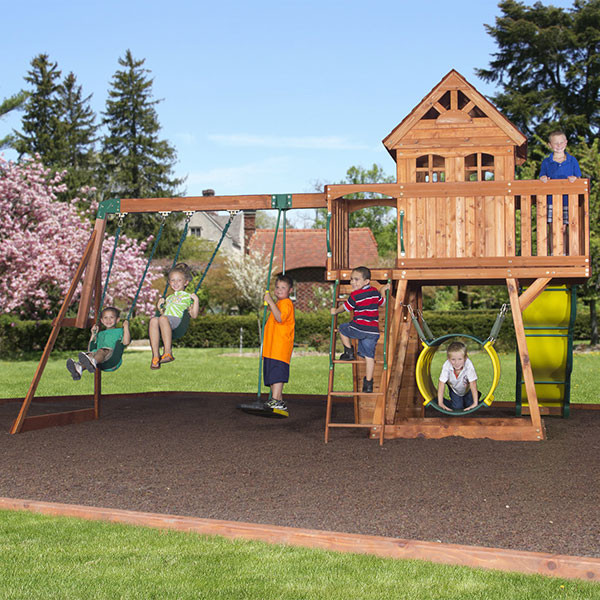 Backyard Discovery Cedar View Swing Set backyard discovery cedar view | totally swing sets