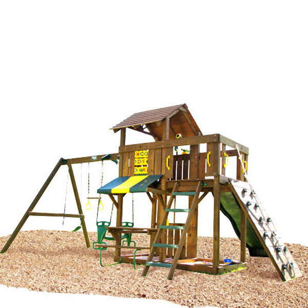 Creative Playthings Playtime Cambridge Swing Set I back view