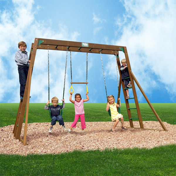 Creative Playthings Playtime Classic Swing Set II bkgd