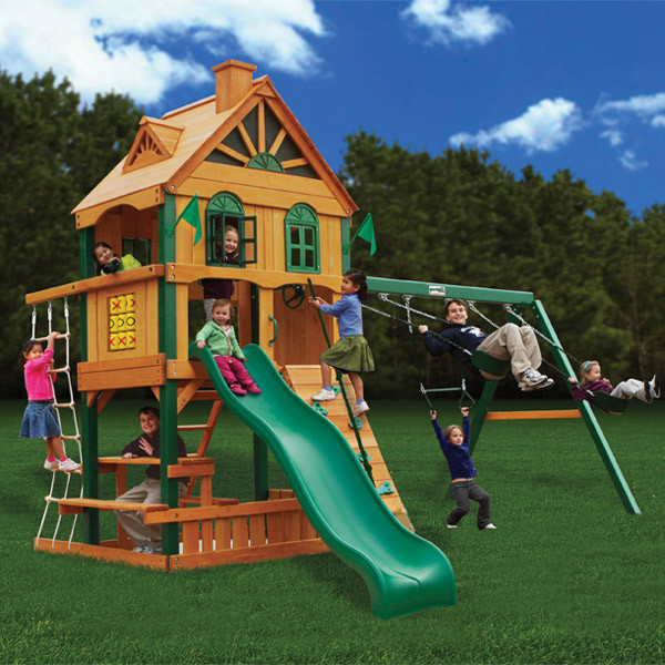 Gorilla Playsets Riverview with Background