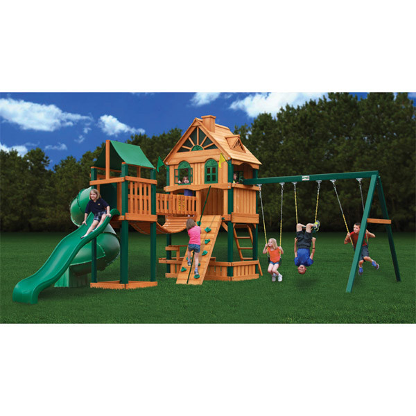 Gorilla Playsets Blue Ridge Woodbridge with Background