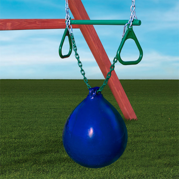 Gorilla Playsets Buoy Ball with Trapeze Bar - Blue