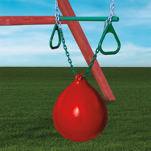 Gorilla Playsets Buoy Ball with Trapeze Bar - Red