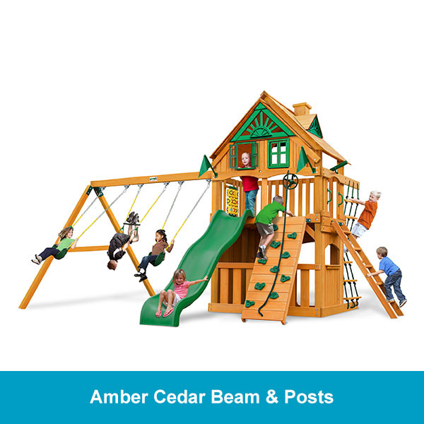 Gorilla Playsets Chateau Clubhouse Treehouse - Amber Cedar Beam & Posts
