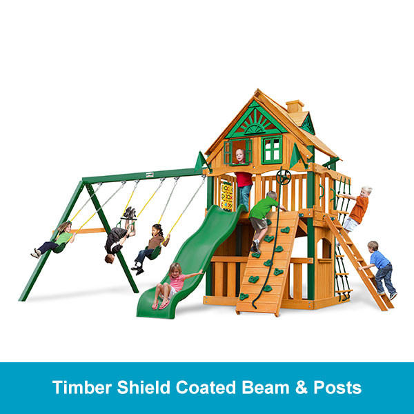 Gorilla Playsets Chateau Clubhouse Treehouse - Timber Shield Beam & Posts