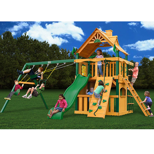 Gorilla Playsets Chateau II Clubhouse with Background