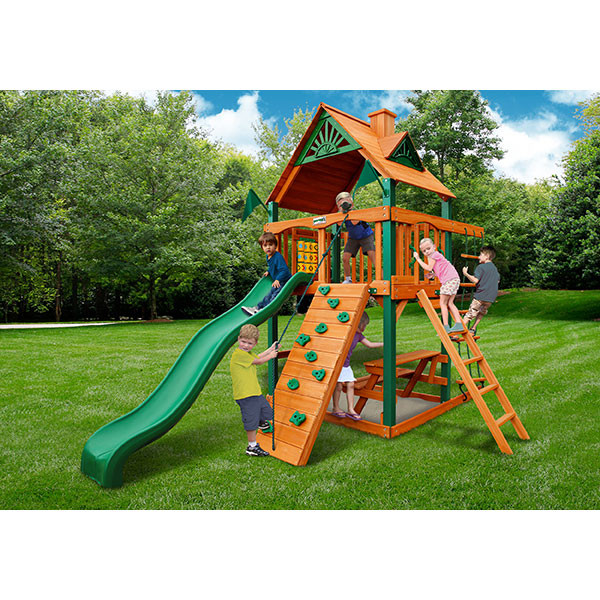 Gorilla Playsets Chateau Tower with Background