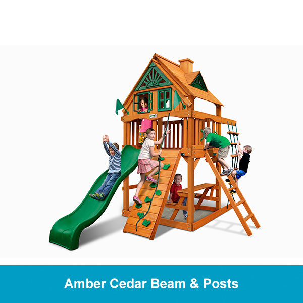 Gorilla Playsets Chateau Tower Treehouse - Amber Cedar Beam & Posts
