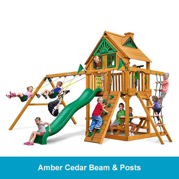 Gorilla Playsets Chateau Treehouse - Amber Cedar Beam & Posts