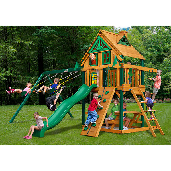 Gorilla Playsets Chateau Treehouse with Background
