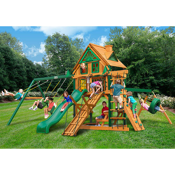 Gorilla Playsets Frontier Treehouse with Background