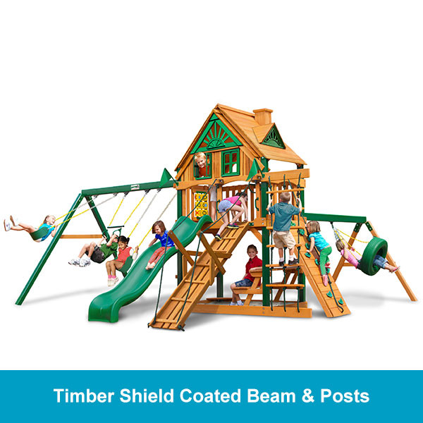 Gorilla Playsets Frontier Treehouse - Timber Shield Beam & Posts