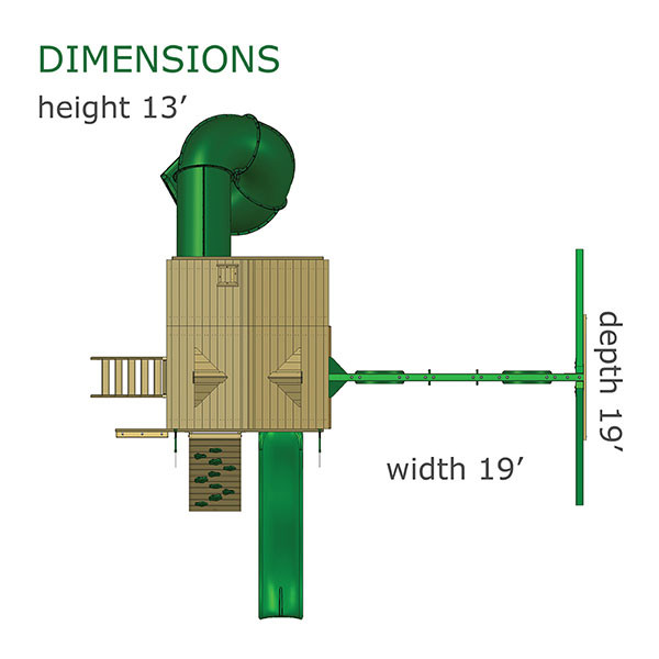 Gorilla Playsets Great Skye I Dimensions