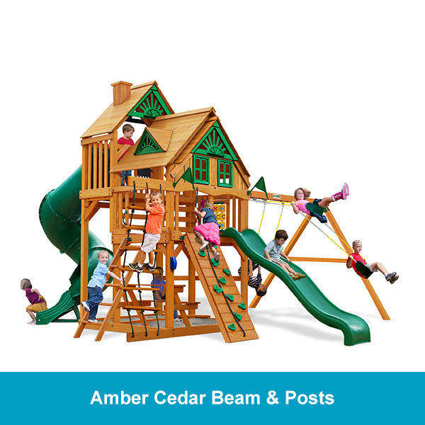 Gorilla Playsets Great Skye I Treehouse - Amber Cedar Beam & Posts