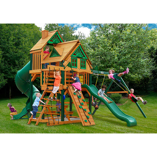 Gorilla Playsets Great Skye I Treehouse with Background