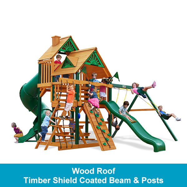 Gorilla Playsets Great Skye I Wood Roof - Timber Shield Beam & Posts