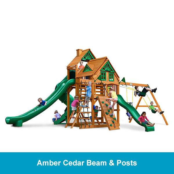 Gorilla Playsets Great Skye II Treehouse - Amber Cedar Beam & Posts