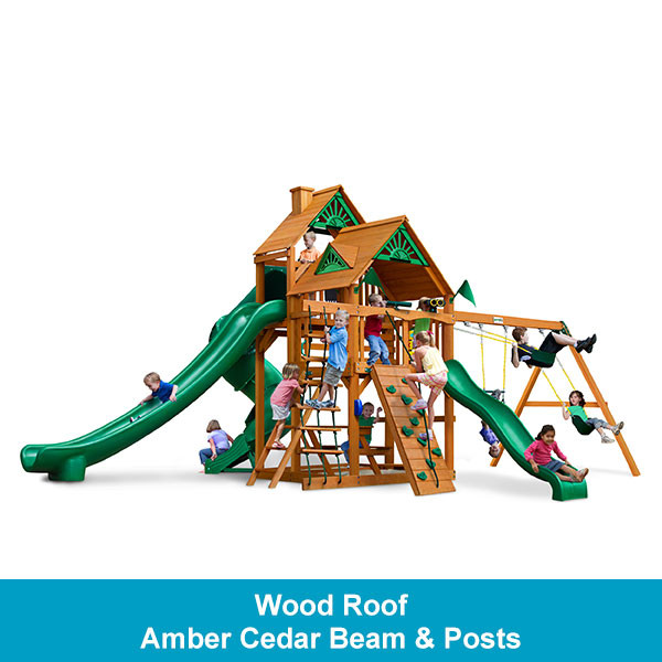 Gorilla Playsets Great Skye II Wood Roof - Amber Cedar Beam & Posts