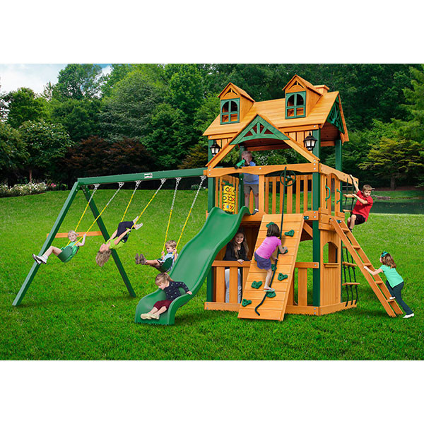 Gorilla Playsets Malibu Clubhouse with Background
