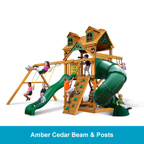 Gorilla Playsets Malibu Deluxe Extreme Amber Cedar Beam & Posts