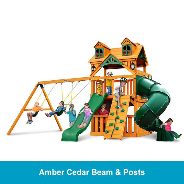Gorilla Playsets Malibu Extreme Clubhouse Amber Cedar Beam & Posts