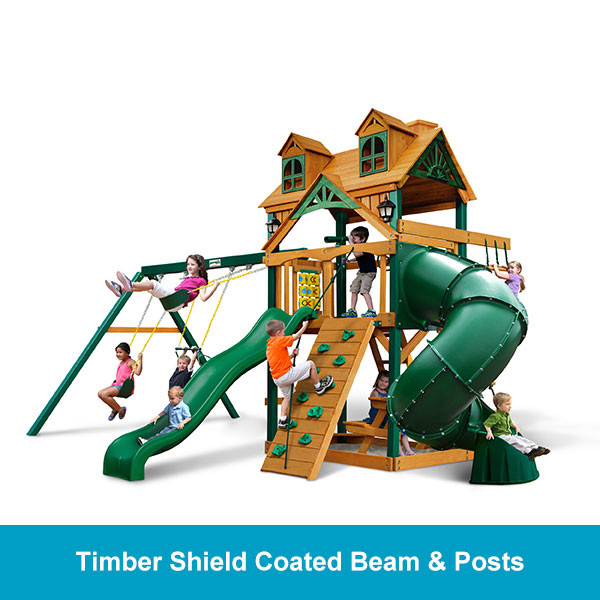 Gorilla Playsets Malibu Deluxe Extreme Timber Shield Beam & Posts