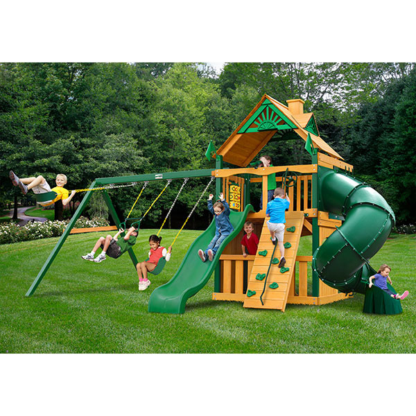 Gorilla Playsets Mountaineer Clubhouse with Background