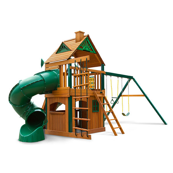 Gorilla Playsets Mountaineer Clubhouse Rear View