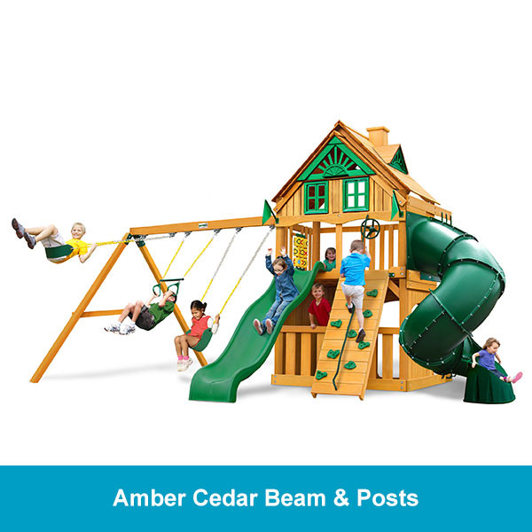 Gorilla Playsets Mountaineer Clubhouse Treehouse - Amber Cedar Beam & Posts