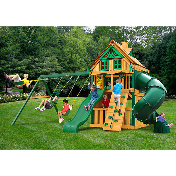 Gorilla Playsets Mountaineer Clubhouse Treehouse with Background