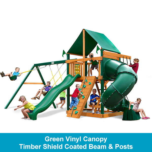 Gorilla Playsets Mountaineer Green Vinyl Canopy - Timber Shield Beam & Posts