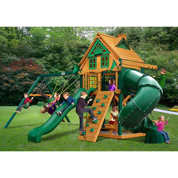 Gorilla Playsets Mountaineer Treehouse with Background