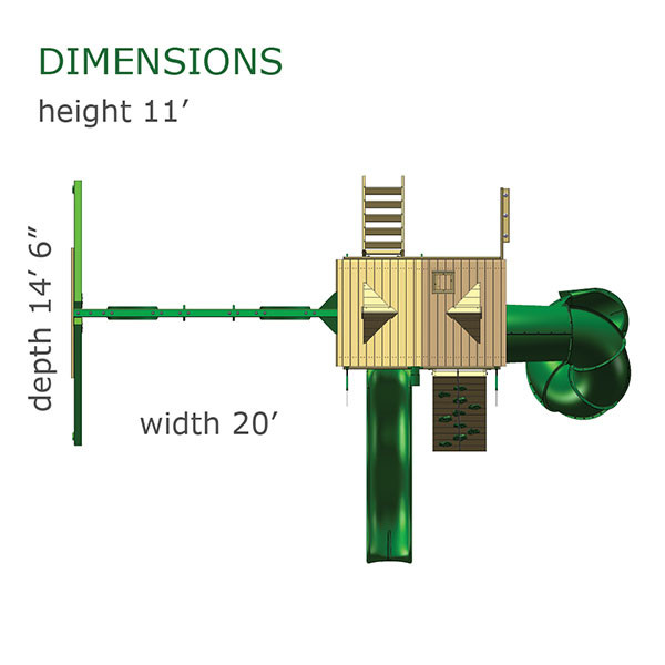 Gorilla Playsets Mountaineer Treehouse Dimensions
