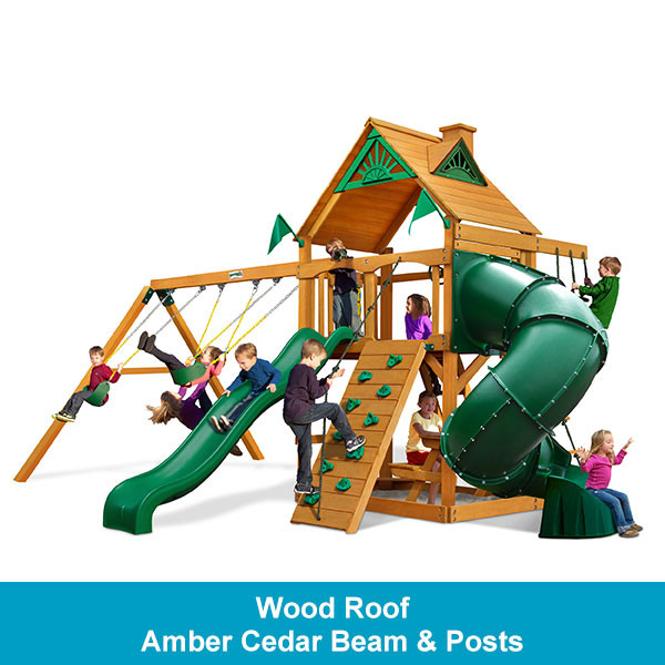 Gorilla Playsets Mountaineer Wood Roof - Amber Cedar Beam & Posts