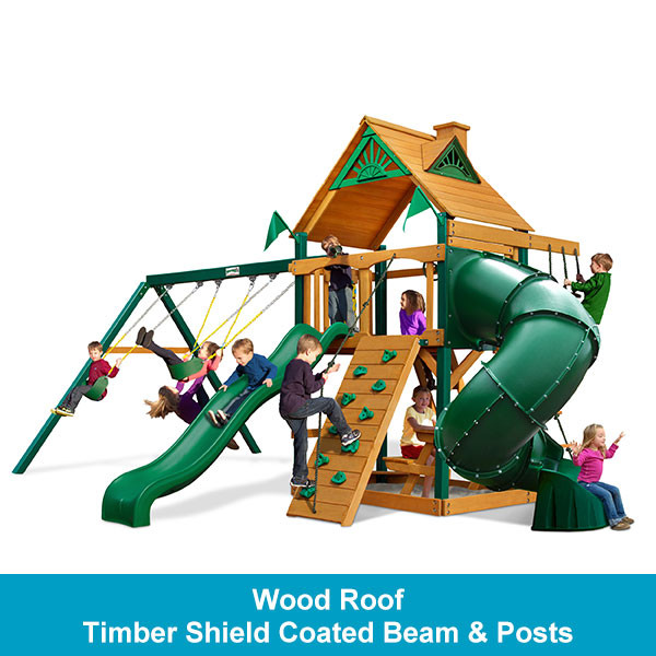Gorilla Playsets Mountaineer Wood Roof - Timber Shield Beam & Posts