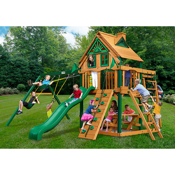 Gorilla Playsets Navigator Treehouse with Background