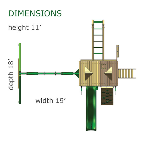 Gorilla Playsets Navigator Treehouse Dimensions