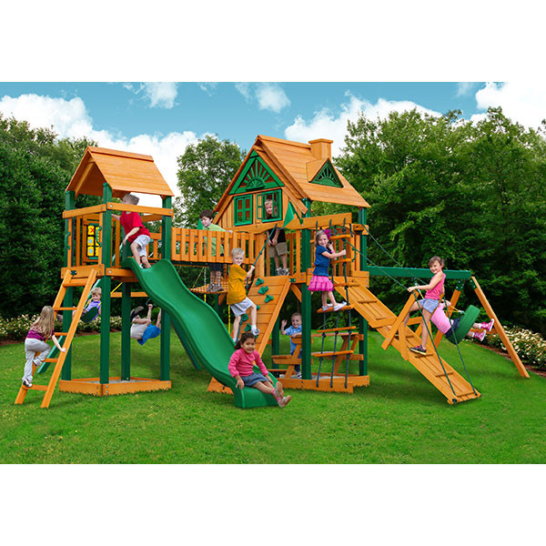 Gorilla Playsets Pioneer Peak Treehouse with Background