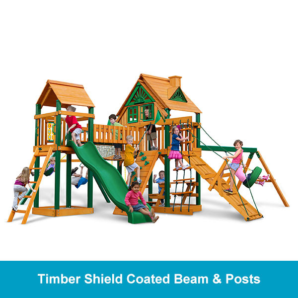 Gorilla Playsets Pioneer Peak Treehouse - Timber Shield Beam & Posts