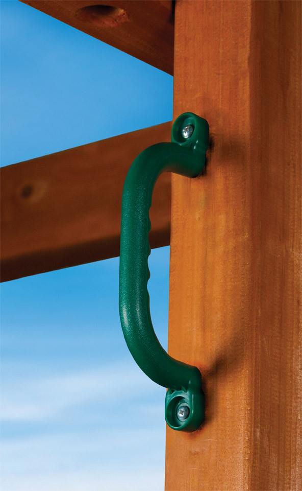 Gorilla Playset Plastic Safety Handles  - Green
