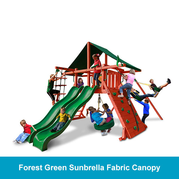 Gorilla Playsets Sun Climber Extreme Forest Green Sunbrella Fabric Canopy