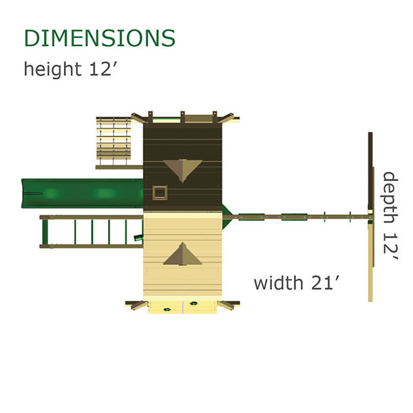 Gorilla Playsets Sun Palace II Dimensions