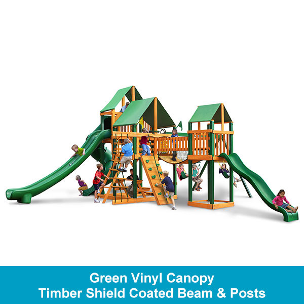 Gorilla Playsets Treasure Trove II Green Vinyl Canopy - Timber Shield Beam & Posts
