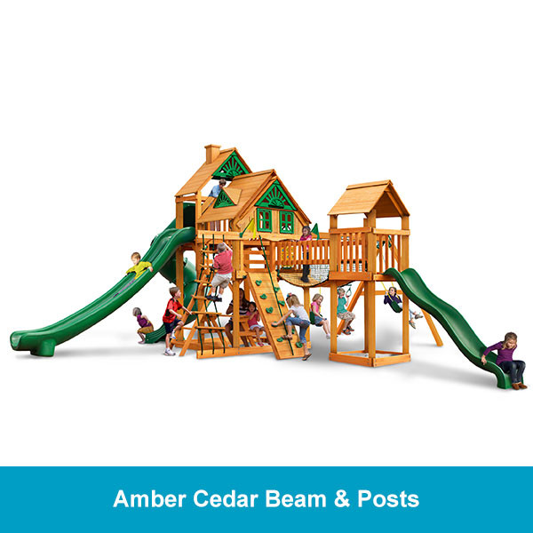 Gorilla Playsets Treasure Trove II Treehouse - Amber Cedar Beam & Posts