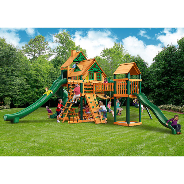 Gorilla Playsets Treasure Trove II Treehouse with Background