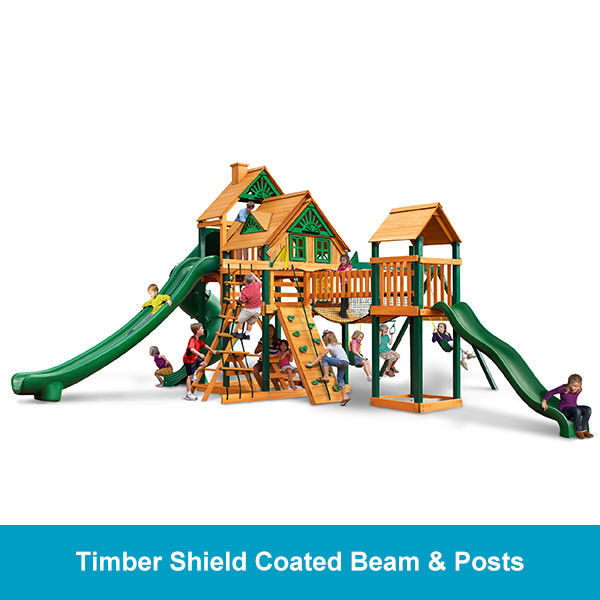 Gorilla Playsets Treasure Trove II Treehouse - Timber Shield Beam & Posts