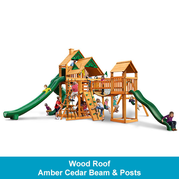 Gorilla Playsets Treasure Trove II Wood Roof - Amber Cedar Beam & Posts