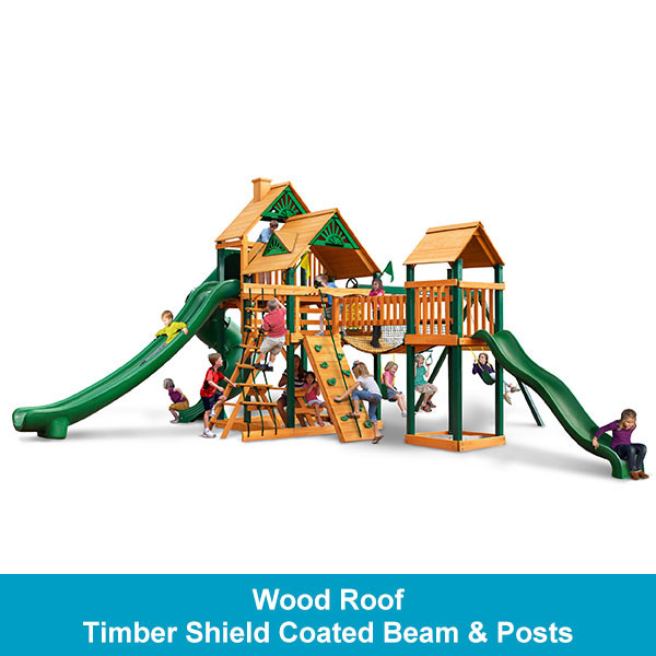 Gorilla Playsets Treasure Trove II Wood Roof - Timber Shield Beam & Posts