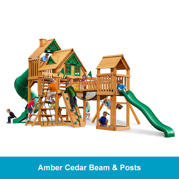 Gorilla Playsets Treasure Trove Treehouse - Amber Cedar Beam & Posts