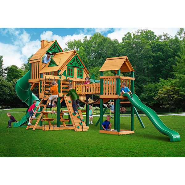 Gorilla Playsets Treasure Trove Treehouse with Background